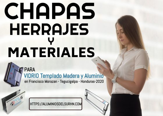 Chapas Herrajes Accesorios y Materiales para VIDRIO templado Madera y Aluminio en Francisco Morazán - Tegucigalpa - Honduras 2020