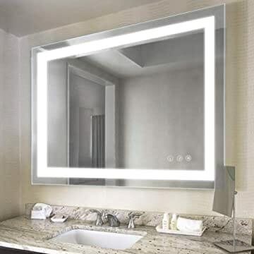 espejo con luz walmart