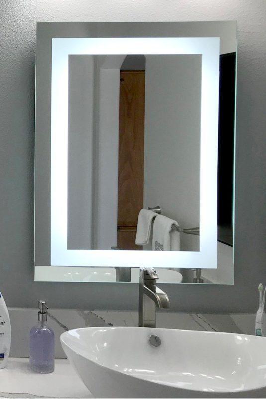 espejos con luz led para baño