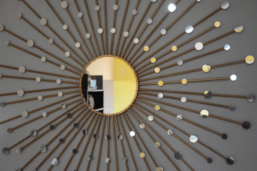D.I.Y. ESPEJO DECORATIVO - SUNBURST MIRROR - ¿Dónde se debe colocar espejos redondos grandes en una sala de estar